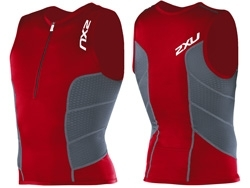 2011 2XU Men's Comp Triathlon Top, Red
