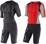 2XU Men's Compression Full Zip Sleeved Trisuit, MT4442d