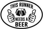 Oval Decal, This runner needs a Beer