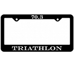Triathlon License Plate Frame, 70.3