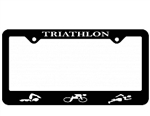 Triathlon License Plate Frame, Figures
