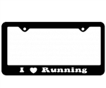 I Heart Running License Plate Frame
