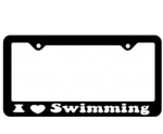 I Heart Swimming Licence Plate Frame