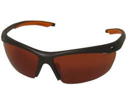 Chili's Wishbone Sunglasses, Black/Orange