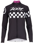 Zoot Women's Cycle Cali Thermo LS Jersey, Paradise Checker