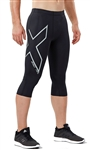 2XU Men's Hyoptik Compression 3/4 Tights, MA3518b