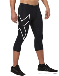 2XU Men's Compression 3/4 Tights, MA3850b