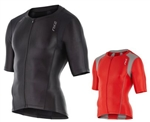 2XU Men's Compression Sleeved Tri Top, MT4439a