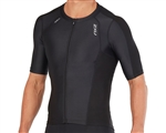 2XU Men's Compression Sleeved Tri Top, MT4840a