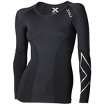 2XU Women's Elite Long Sleeve Compression Top, WA3016a