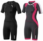 2XU Women's Compression Sleeved Trisuit, WT3618d