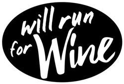 Oval Decal, Will run for Wine