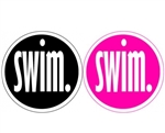 Round Decal, Swim.