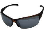 Chili's Thunder Sunglasses, Black/Brown/Smoke