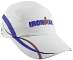 HeadSweats IRONMAN® Race Hat, White/Blue