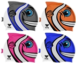 TYR Kid's Charactyer Happy Fish Swim Cap