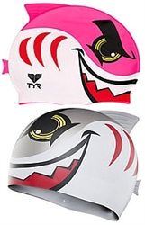 TYR Kid's Charactyer Shark Swim Cap