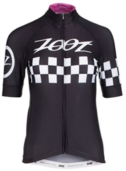 Zoot Women's Cycle Cali Jersey, Paradise Checker